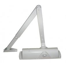 Доводчик дверной Geze-1000 в комплекте с рычажной тягой белый