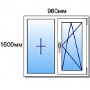Оконный блок 1600мм*960мм