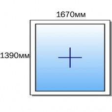 Оконный блок 1670мм*1390мм /глухой/