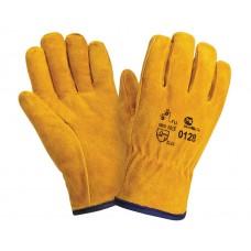Спилковые утепленные перчатки DRIVER