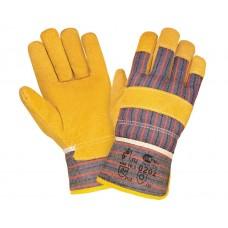 Спилковые перчатки комбинированные 0202