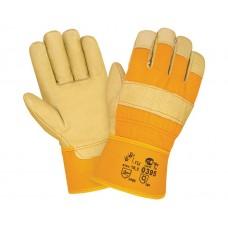 Кожаные комбинированные перчатки 0395